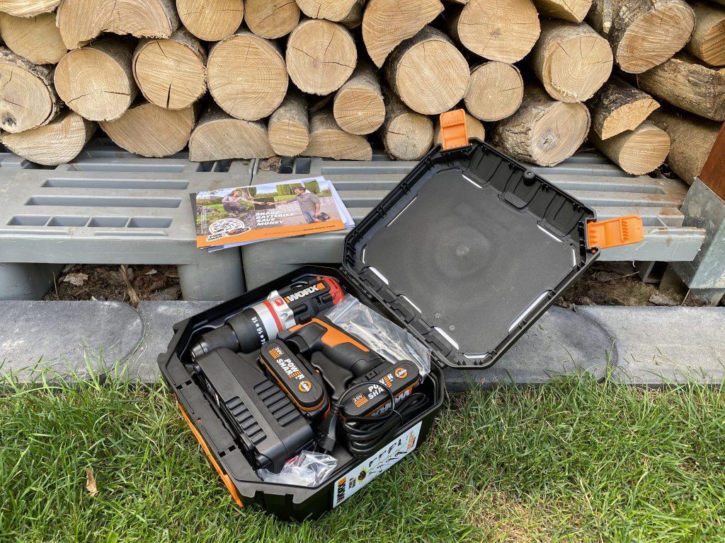 Worx WX354 Schlagbohrhammer SlammerDrill im praktischen Koffer